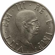 2 lires Victor-Emmanuel III (non magnétique) – avers