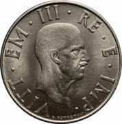 2 lires Victor-Emmanuel III (magnétique) -  avers