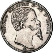 5 lires Victor-Emmanuel II – avers