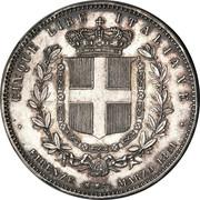 5 lires Victor-Emmanuel II – revers