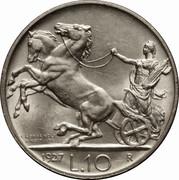 10 lires Victor-Emmanuel III – revers