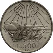 500 Lire (Dante Alighieri - PROVA) – revers