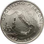 500 Lire (Guglielmo Marconi - PROVA) – revers