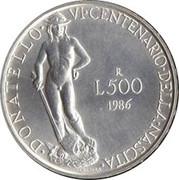 500 lires Donatello – revers