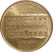200 lires Conseil d'état -  revers