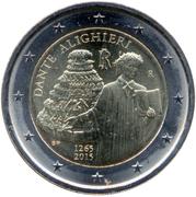 2 euros Dante Alighieri -  avers