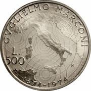 500 lires  Guglielmo Marconi – revers