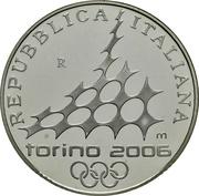 10 euros JO 2006 Patinage de vitesse -  avers