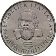 500 lires Galileo Galilei – avers