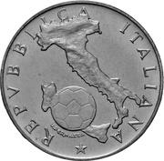 500 lires Mondial FIFA de Mexico – avers