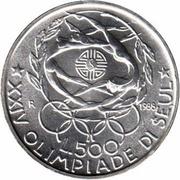 500 lires XXIV Jeux Olympiques – revers