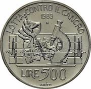 500 Lire Cancro – revers