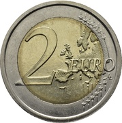 2 euros Galilée -  revers