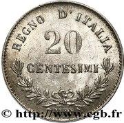 20 centesimi Victor-Emmanuel II – revers