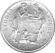 500 lires San Giovanni Bosco – revers