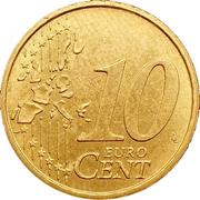 10 cents d'euro (1ère carte) -  revers