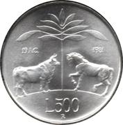 500 lires Virgil – revers