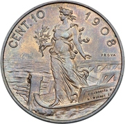 10 centesimi - Vittorio Emanuele III (Essai) – revers