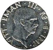 50 centesimi Victor-Emmanuel III (non magnétique) – avers