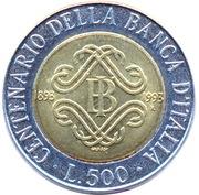 500 lires Banque d'Italie -  revers