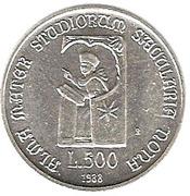 500 lires Université de Bologne – revers
