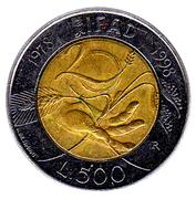 500 lires IFAD -  revers