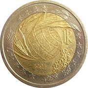 2 euros Programme alimentaire mondial -  avers