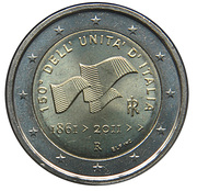 2 euros Unification italienne -  avers