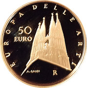 50 Euro (European Arts - Spain) – avers