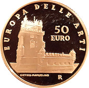 50 Euro (European Arts - Portugal) – revers