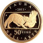 50 euros Faune dans l'art (La Rome Antique) – revers