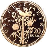20 euros Flore dans l'art (La Rome Antique) – revers