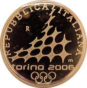 50 euros JO 2006 Emmanuel-Philibert de Savoie – avers