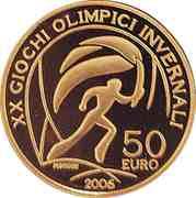 50 euros JO 2006 Torche olympique – revers
