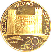20 euros JO 2006 Porte Palatine -  revers