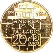 20 euros Andrea Palladio – revers