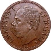1 centesimo Humbert Ier – avers