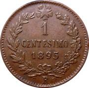 1 centesimo Humbert Ier – revers