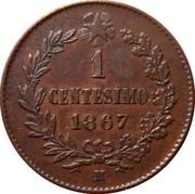 1 centesimo Victor-Emmanuel II – revers