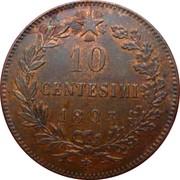 10 centesimi Humbert Ier – revers