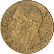 10 centesimi Victor-Emmanuel III (bronze aluminium) -  avers
