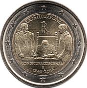 2 euros Constitution italienne -  avers