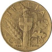 10 centesimi Victor-Emmanuel III (bronze aluminium) – revers