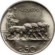 50 centesimi Victor-Emmanuel III – revers