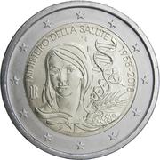 2 euros Ministère de la santé -  avers