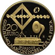 20 euros Guglielmo Marconi – revers