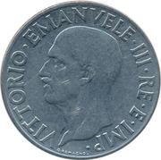 1 lire Victor-Emmanuel III (non magnétique) – avers