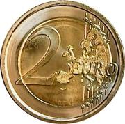 2 euros Léonard de Vinci -  revers