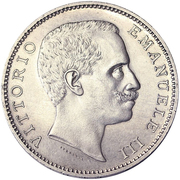 5 lires Victor-Emmanuel III (fausse) – avers