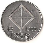 100 lires Guglielmo Marconi -  revers